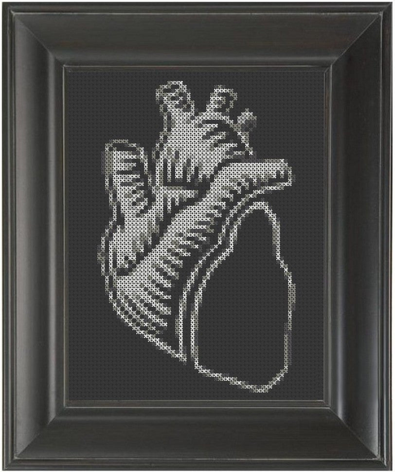 Black Heart - Cross Stitch Pattern Chart