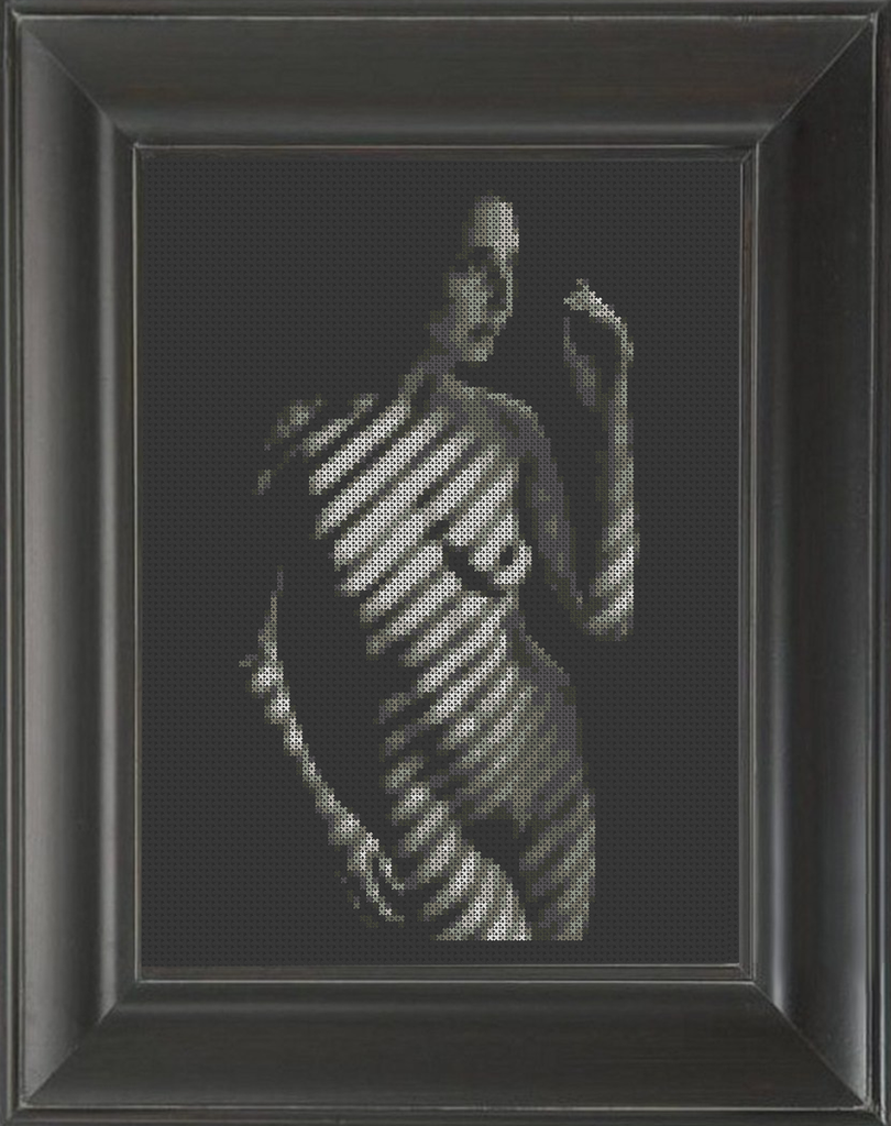 Blinded 02 - Cross Stitch Pattern Chart Erotic Nude Sexy NSFW