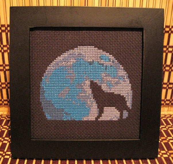 Blue Moon - Cross Stitch Pattern Chart