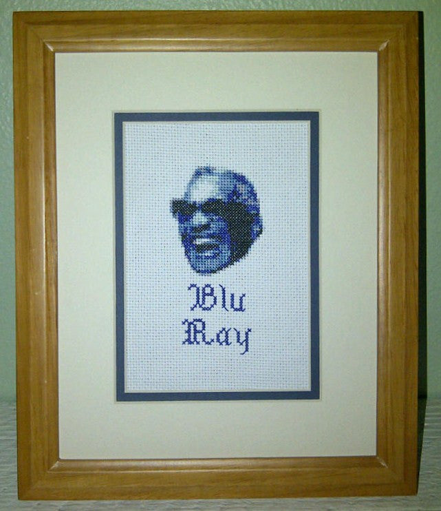 Blu Ray - Cross Stitch Pattern Chart