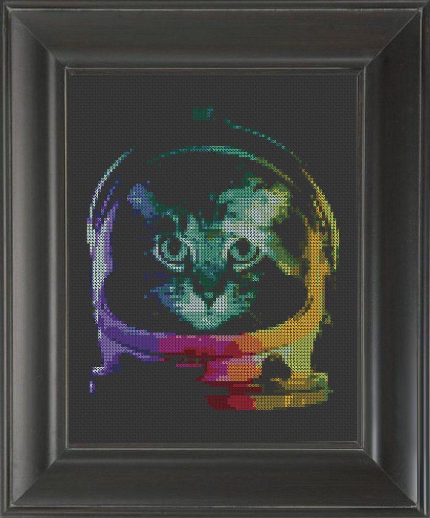 Cat Astronaut - Cross Stitch Pattern Chart