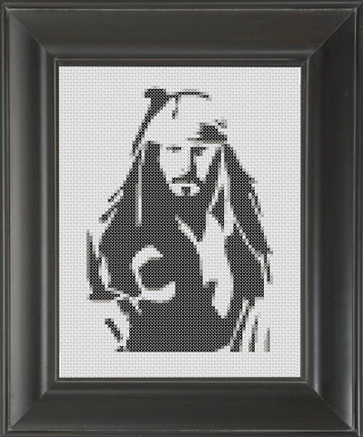 Captain Jack BW 02 - Cross Stitch Pattern Chart