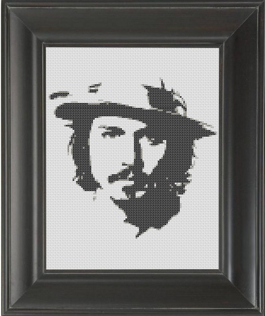 Captain Jack BW - Cross Stitch Pattern Chart