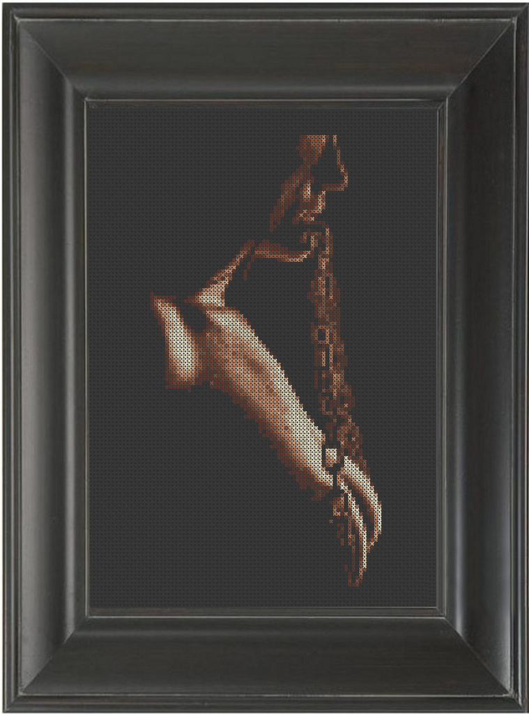 Chains - Cross Stitch Pattern Chart Erotic Nude Sexy NSFW