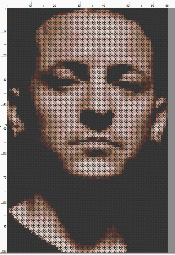 Chester Bennington - Cross Stitch Pattern Chart