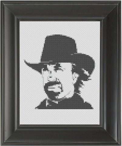 Chuck Norris - Cross Stitch Pattern Chart