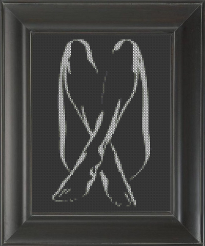 Crossed Legs - Cross Stitch Pattern Chart Erotic Nude Sexy NSFW