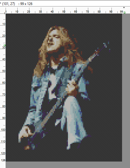 Cliff Burton 02 - Cross Stitch Pattern Chart