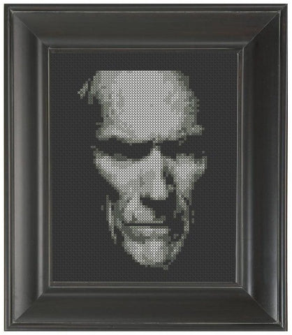 Clint Eastwood - Cross Stitch Pattern Chart