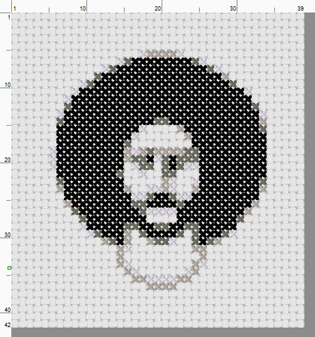 Colin Kaepernick Threezle - Cross Stitch Pattern Chart