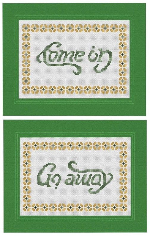 Come In / Go Away - Cross Stitch Pattern Chart
