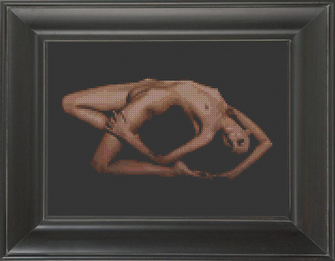 Contort - Cross Stitch Pattern Chart Erotic Nude Sexy NSFW
