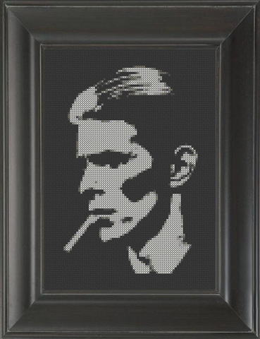 David Bowie Smoking - Cross Stitch Pattern Chart
