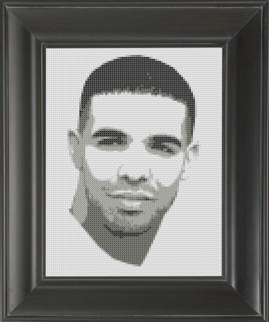 Drake BW - Cross Stitch Pattern Chart