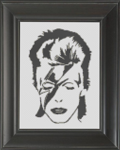 David Bowie BW 02 - Cross Stitch Pattern Chart