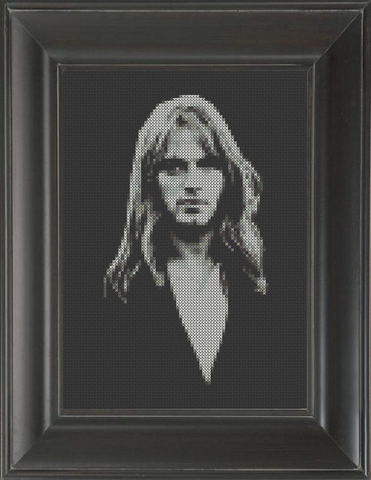 David Gilmour - Cross Stitch Pattern Chart