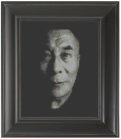 Dalai Lama - Cross Stitch Pattern Chart