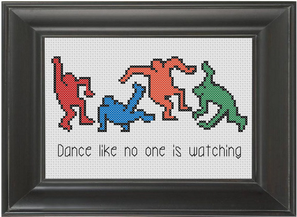 Dance Like No One Is Watching - Cross Stitch Pattern Chart Marijuana 420 Legalize It
