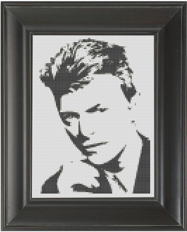 David Bowie BW - Cross Stitch Pattern Chart