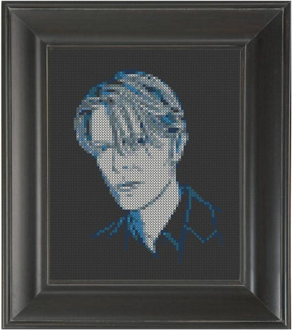 David Bowie Blue - Cross Stitch Pattern Chart
