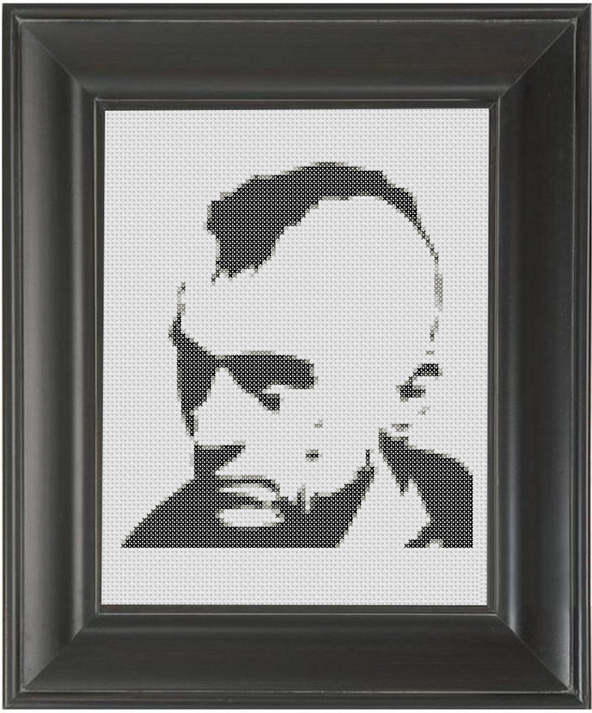 Robert De Niro BW - Cross Stitch Pattern Chart