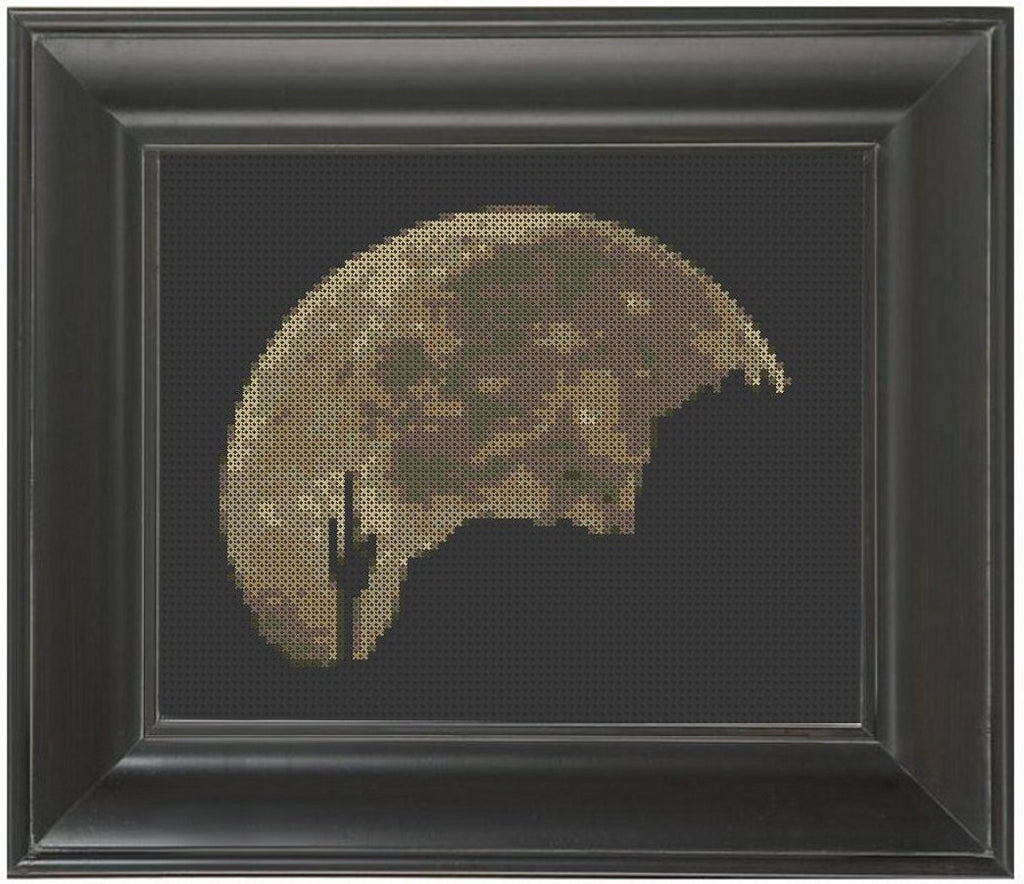 Desert Moon - Cross Stitch Pattern Chart
