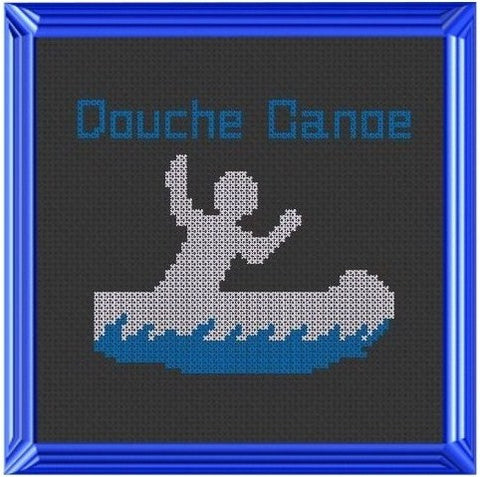 Douche Canoe - Cross Stitch Pattern Chart