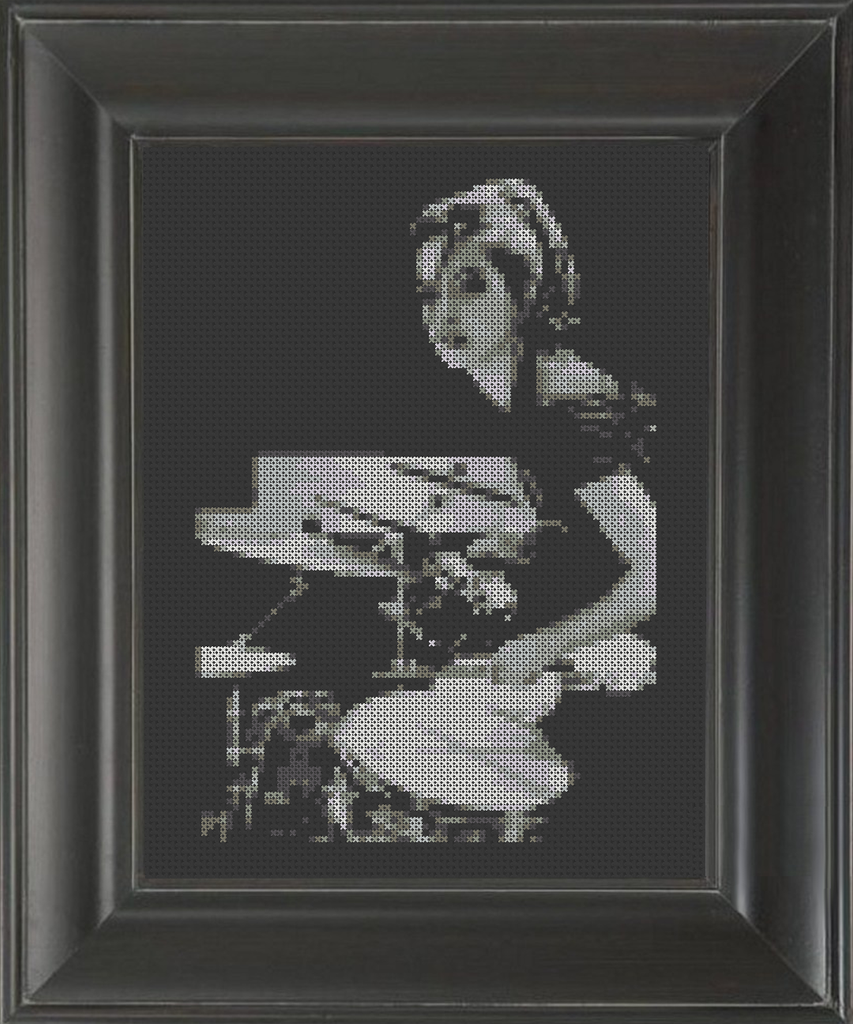Drummer Girl - Cross Stitch Pattern Chart