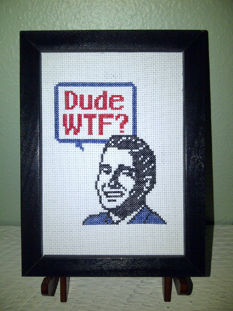 Dude WTF? - Cross Stitch Pattern Chart
