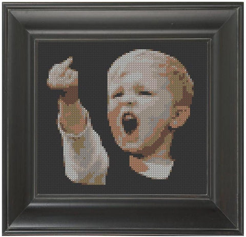 Dutch Boy Hooligan - Cross Stitch Pattern Chart Soccer Football
