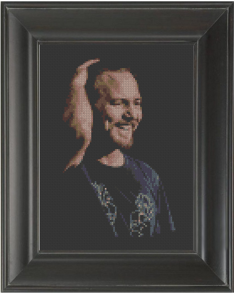 Eddie Vedder HOF - Cross Stitch Pattern Chart
