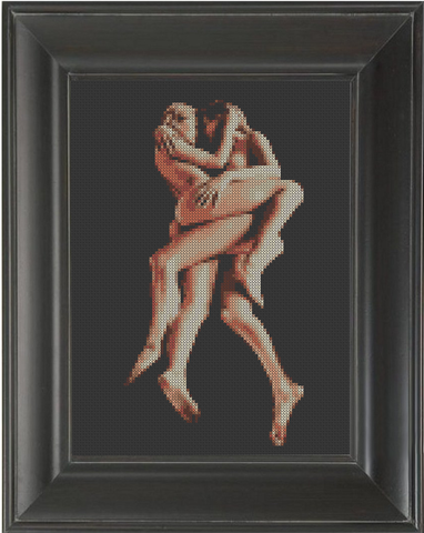 Entwined - Cross Stitch Pattern Chart Erotic Nude Sexy NSFW