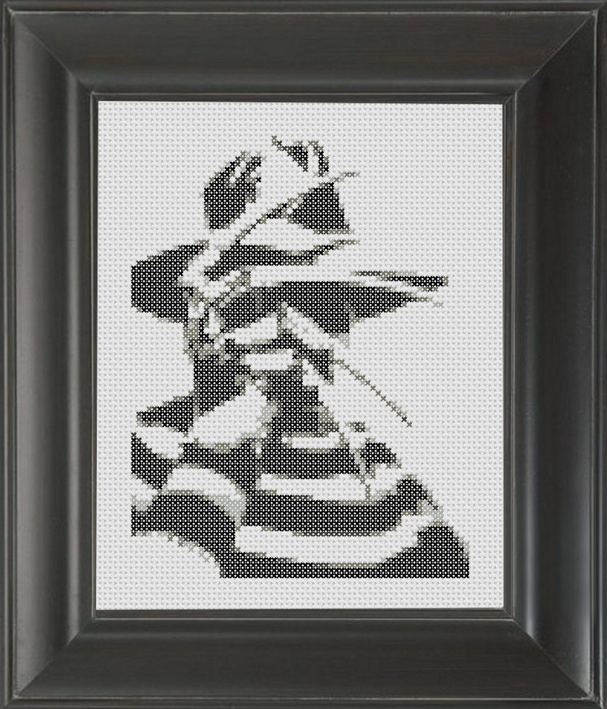 Freddy Krueger BW - Cross Stitch Pattern Chart