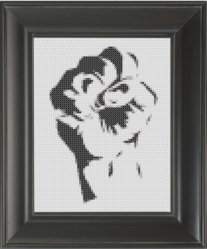 Fist Resist BW - Cross Stitch Pattern Chart