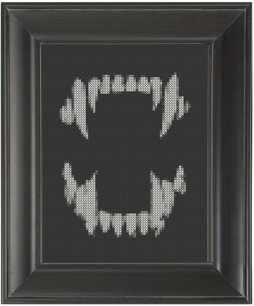 Fangs - Cross Stitch Pattern Chart