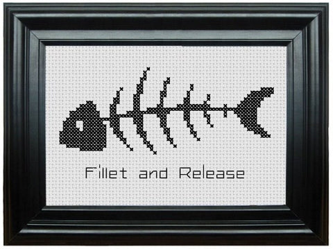 Fillet and Release - Cross Stitch Pattern Chart