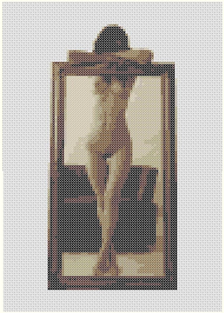 Framed - Cross Stitch Pattern Chart Erotic Nude Sexy NSFW
