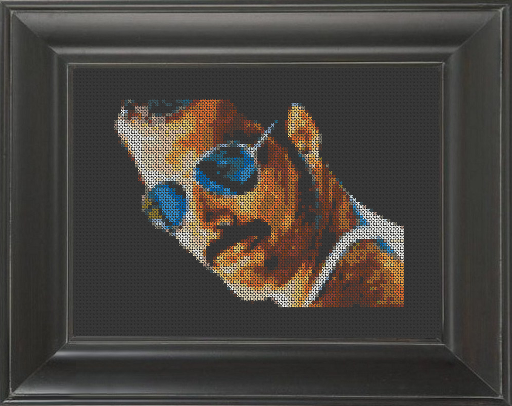 Freddie Mercury Shades - Cross Stitch Pattern Chart