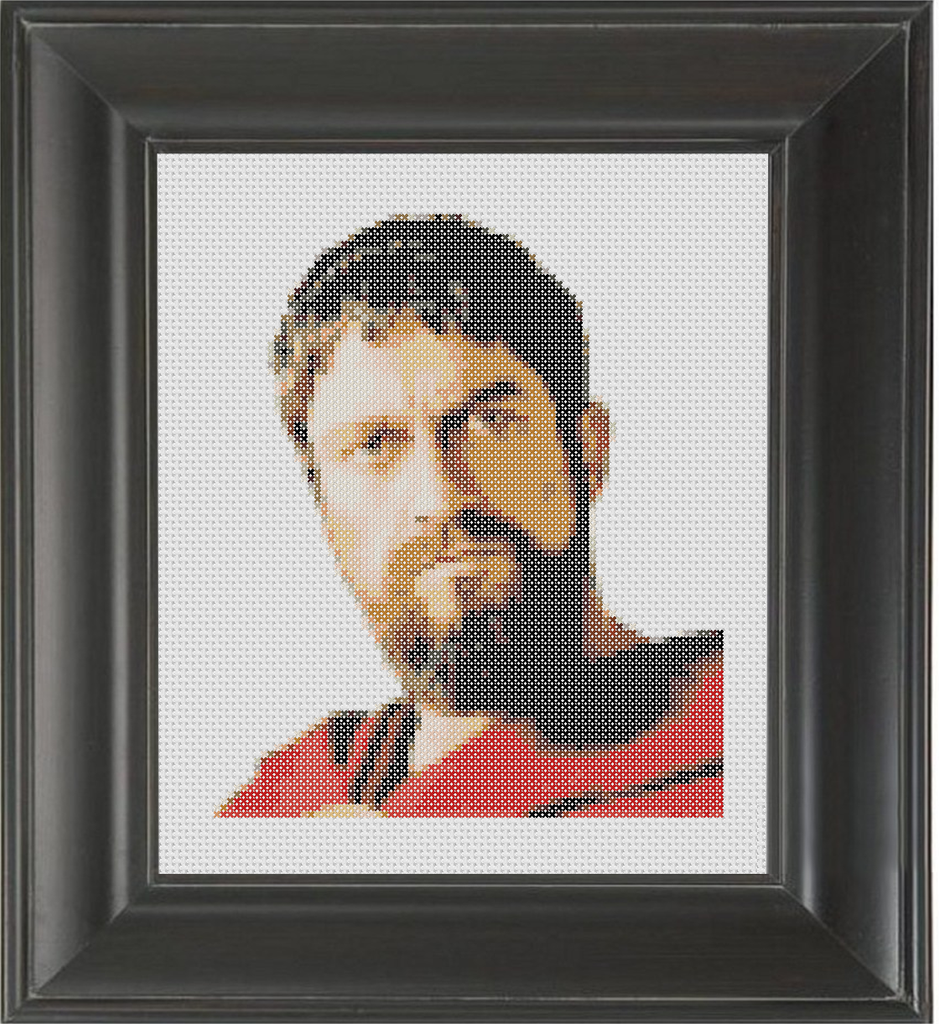 Gerard Butler Color - Cross Stitch Pattern Chart