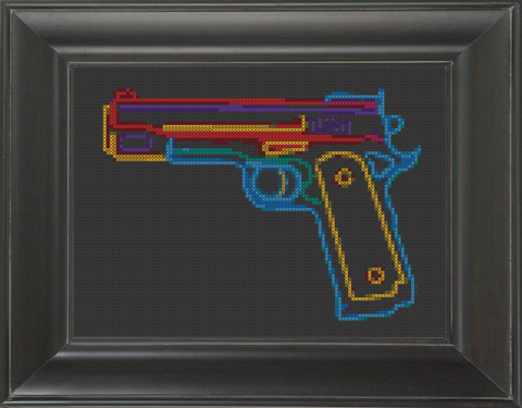 Gun Neon - Cross Stitch Pattern Chart