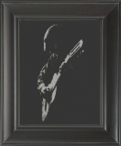 Guitar Player - Cross Stitch Pattern Chart