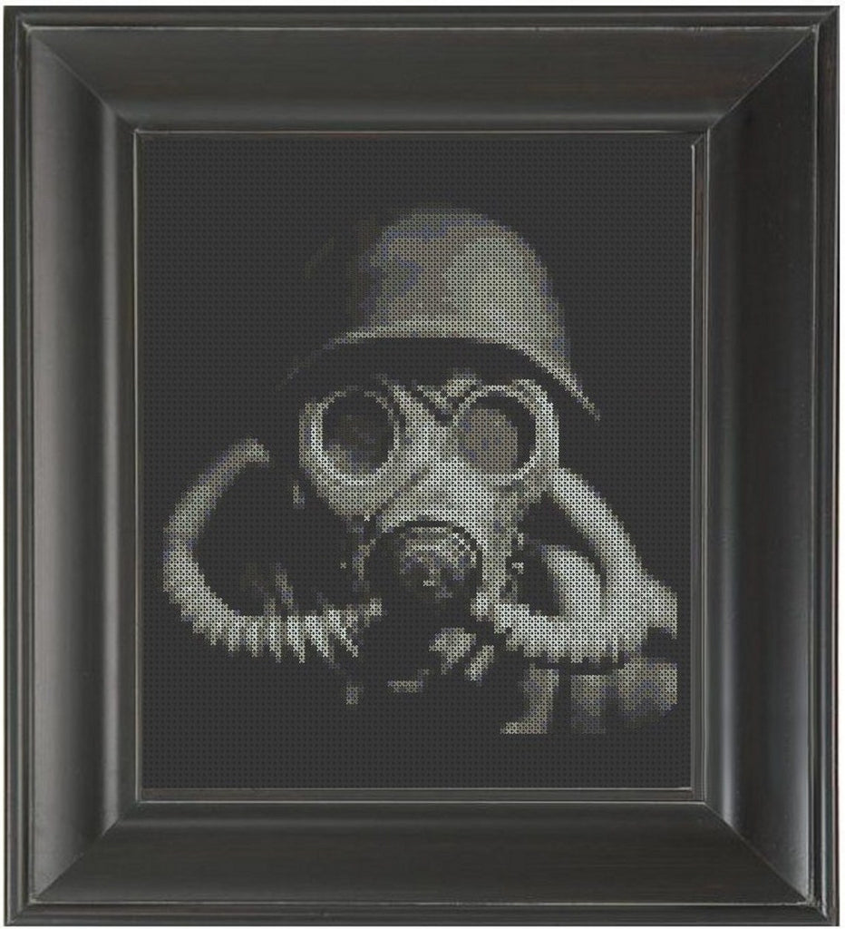 Gas Mask - Cross Stitch Pattern Chart