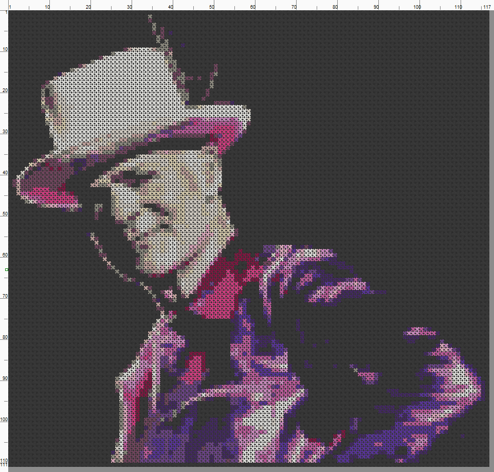 Gord Downie - Cross Stitch Pattern Chart