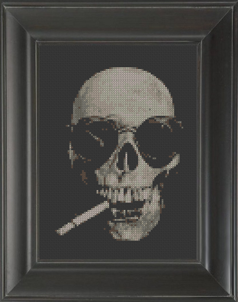Hunter Skeleton Thompson - Cross Stitch Pattern Chart