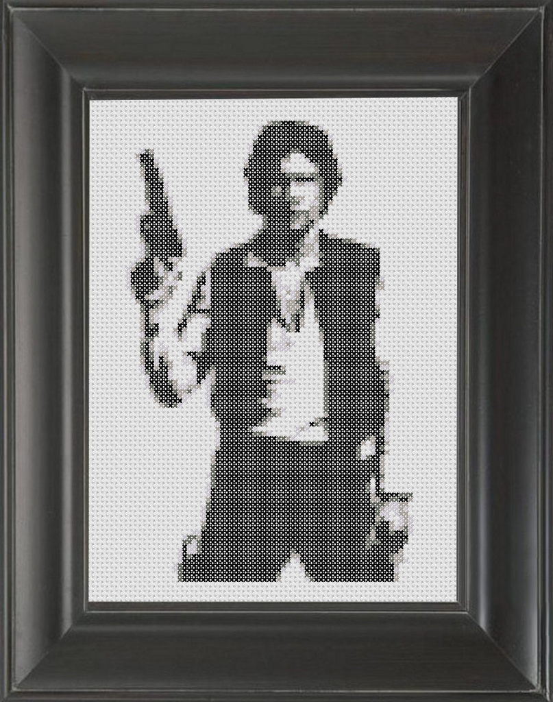Han Solo - Cross Stitch Pattern Chart