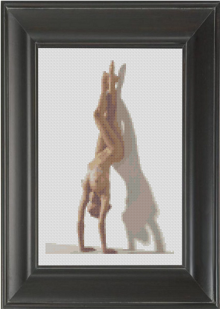 Handstand - Cross Stitch Pattern Chart Erotic Nude Sexy NSFW