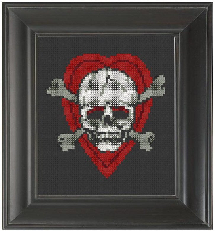 Heart and Skull - Cross Stitch Pattern Chart