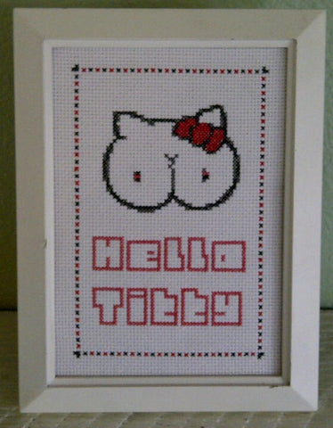Hello Titty - Cross Stitch Pattern Chart