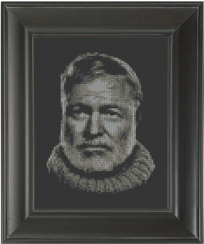 Ernest Hemingway - Cross Stitch Pattern Chart