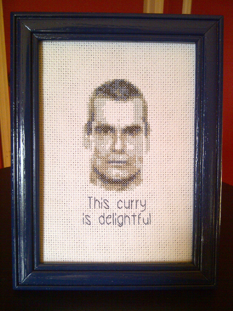 Henry Rollins Likes Curry - Cross Stitch Pattern Chart